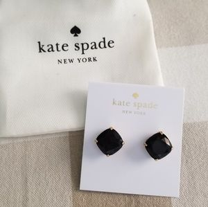 Kate spade large stud earrings black